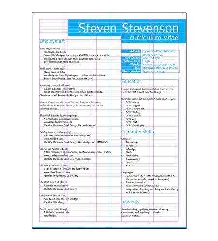 resume layout resume and layout on pinterest