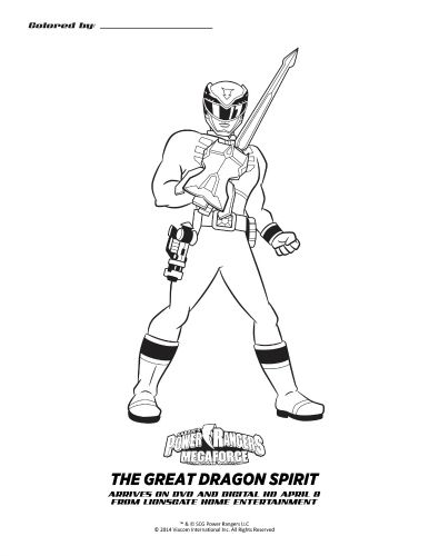 Power Rangers Red Turbo Coloring Book | Power rangers coloring pages, Coloring  pages, Coloring books | 500x386