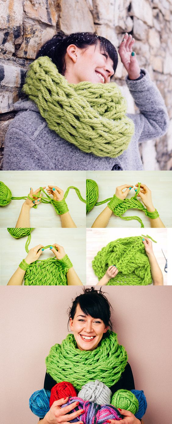 DIY 30-Minute Infinity Scarf @hellkat13 can you imagine? I would have a giant knot!: