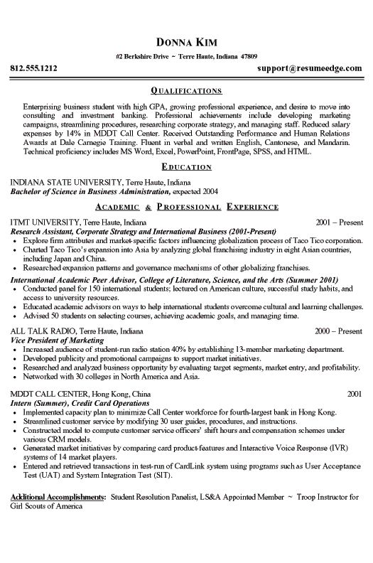resume format samples for college students acbb