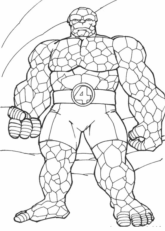 fantastic four superheroes and printable coloring pages on pinterest