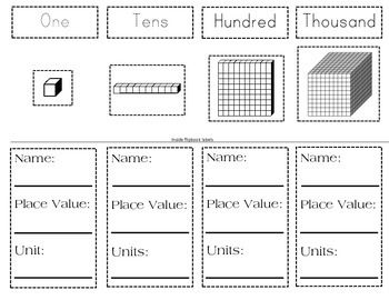 Base Ten Blocks Template. free math clipart base ten blocks ...