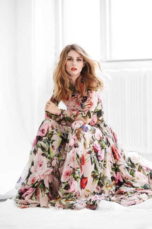 Iconic Fashion Olivia Palermo Floral Dress with Long Sleeves