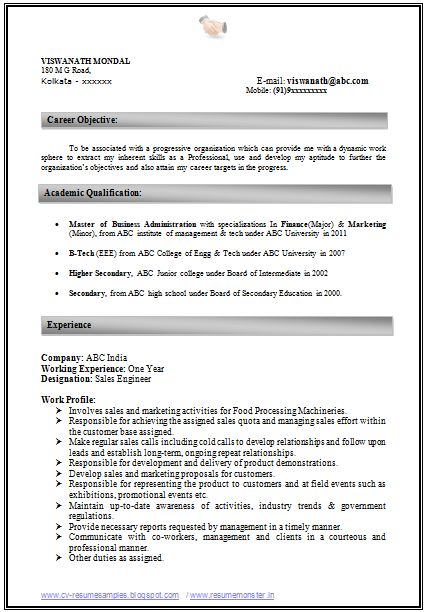 experienced marketing professional resume template