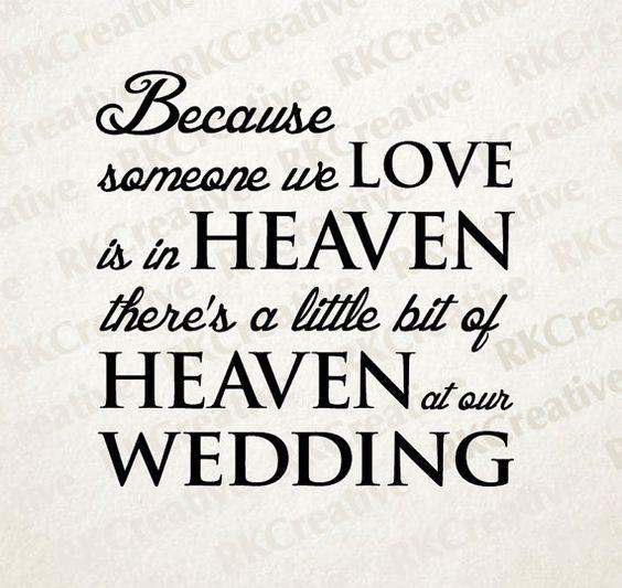 Download Wedding vinyl decal, heaven at our wedding, memorial gift ...