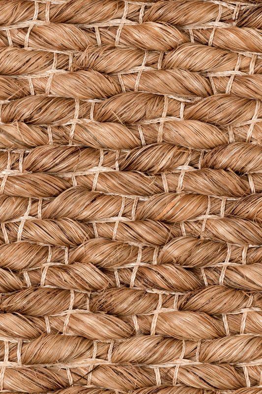 Lapu Lapu Handwoven Abaca Rug In Bark Colorway By Merida