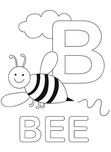 letter b coloring pages and coloring on pinterest