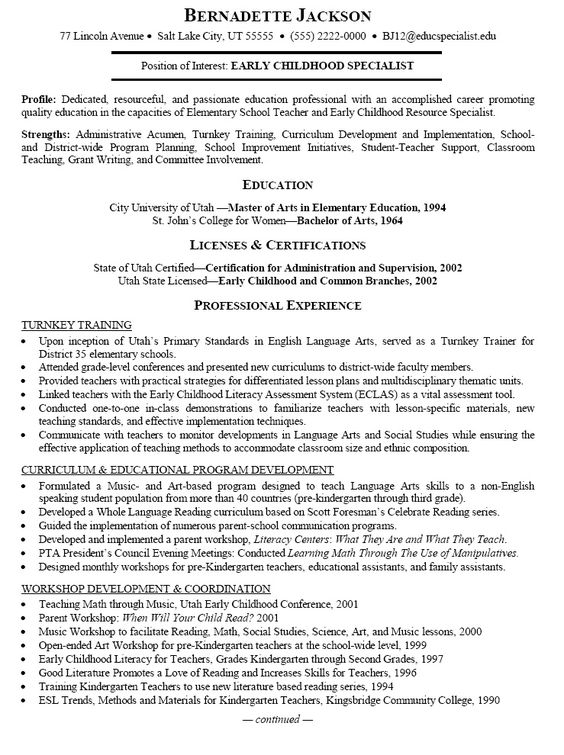 career objective preschool teacher resume preschool teacher preschool teacher resume samples