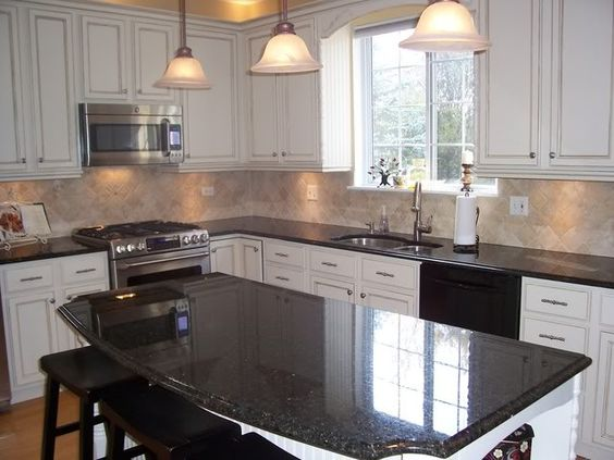 Oak Cabinets, Black Granite And Cabinets On Pinterest