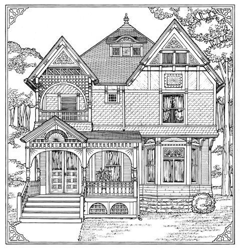 victorian houses coloring and coloring pages on pinterest