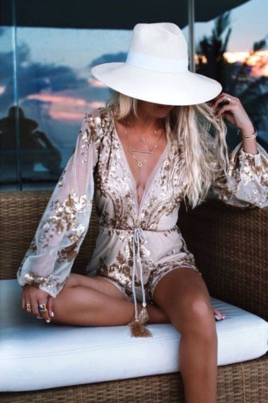 A romper is the best boho outfits for any trip!