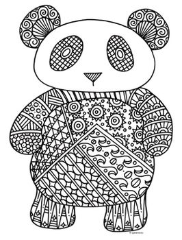 coloring coloring pages and pandas on pinterest