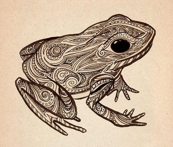 Frog Print by JamieMcElroy on Etsy, $5.00 | I