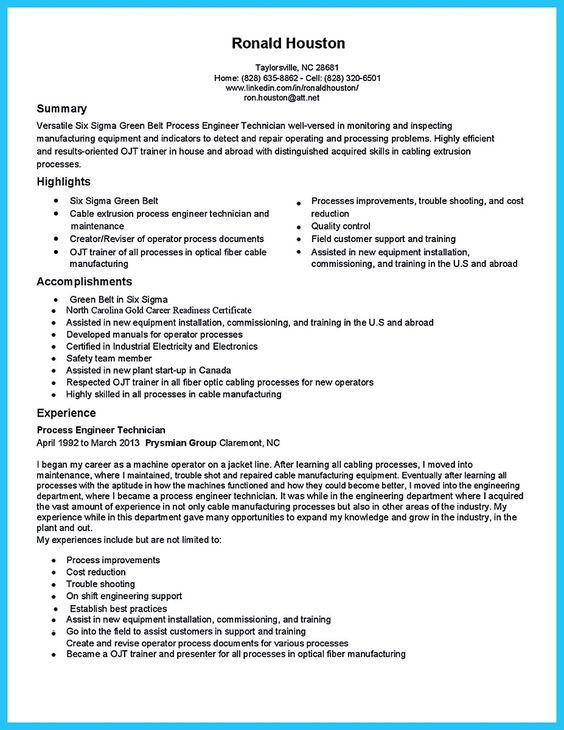 installation technician resume sample