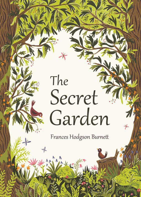 Book cover illustration for 'The Secret Garden' by Frances