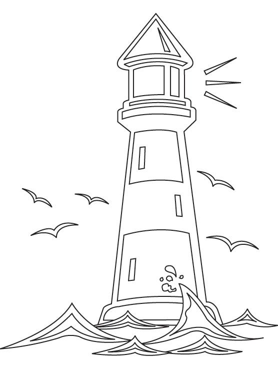 coloring pages coloring and lighthouses on pinterest