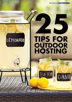 If you love entertaining outdoors, a drink dispenser is a must-have addition to your next party. It's the perfect way to serve refreshing summer drinks, like freshly squeezed lemonade or homemade sangria, and it makes it easy for guests to help themselves throughout the evening.: