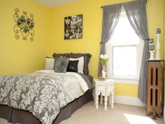 Yellow Wall Paint Bedroom - Bedroom Style Ideas