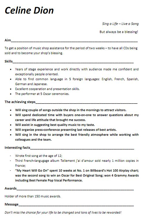 Professional Musician Resume Examples. Free Resume Objective