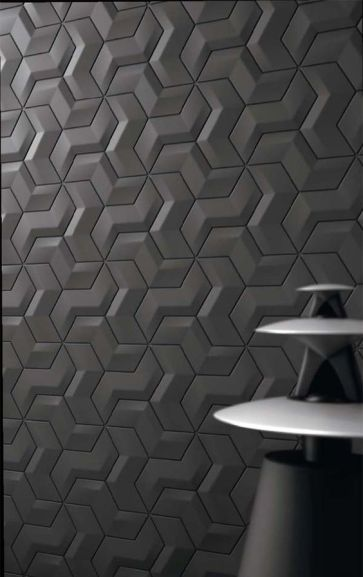 Interlocking tiles, with Bang & Olufsen Handmade tiles can be colour coordinated and customized re. shape, texture, pattern, etc. by ceramic design studios: