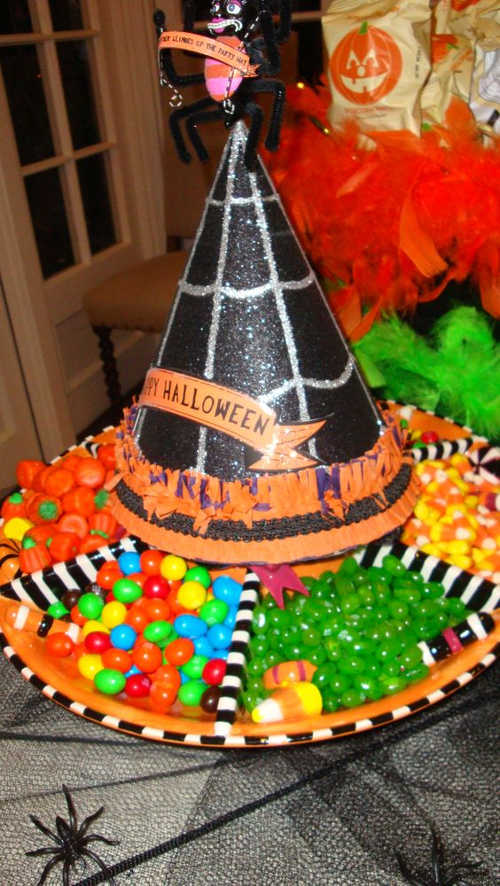 Witch hats, Halloween party ideas and A witch on Pinterest