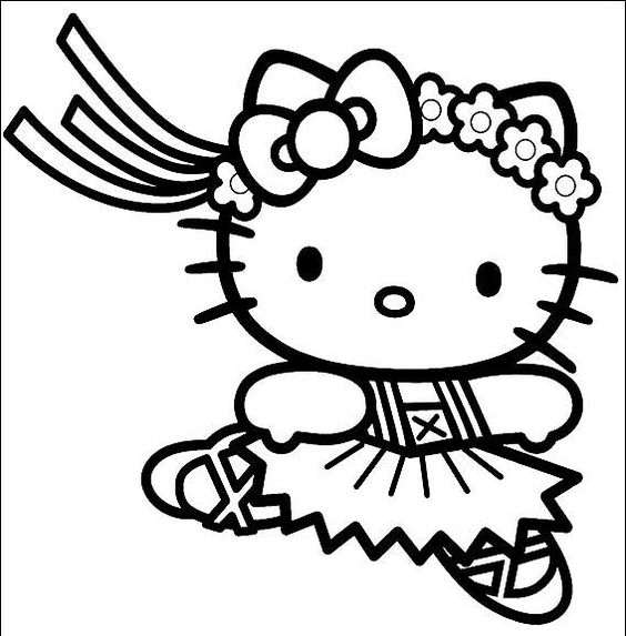 hello kitty coloring coloring pages and coloring on pinterest