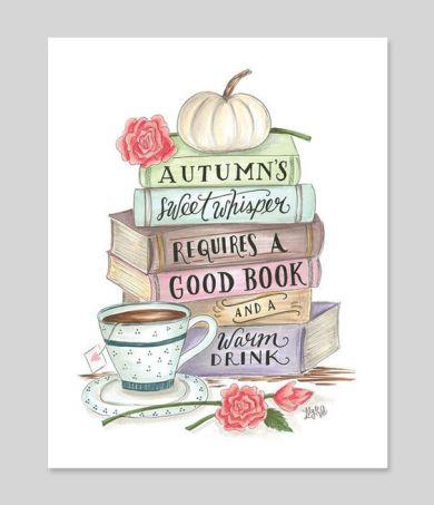Autumn & Books - Print: