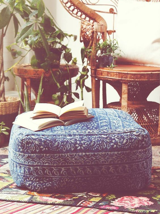 LOVE this pouf! In My Home Pinterest Floor cushions