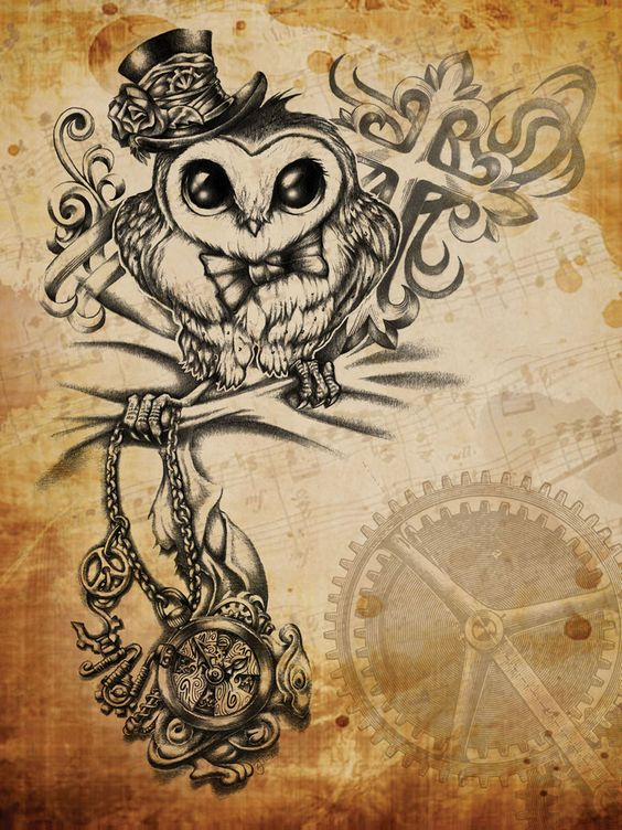 Steampunk Owl by Revenants1 on deviantART ️ Tattoos