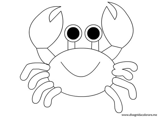 crab coloring page coloring book pinterest coloring pages