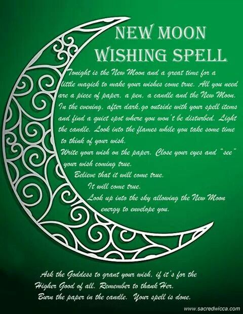 New Moon Wishing Spell Witches Of The Craft