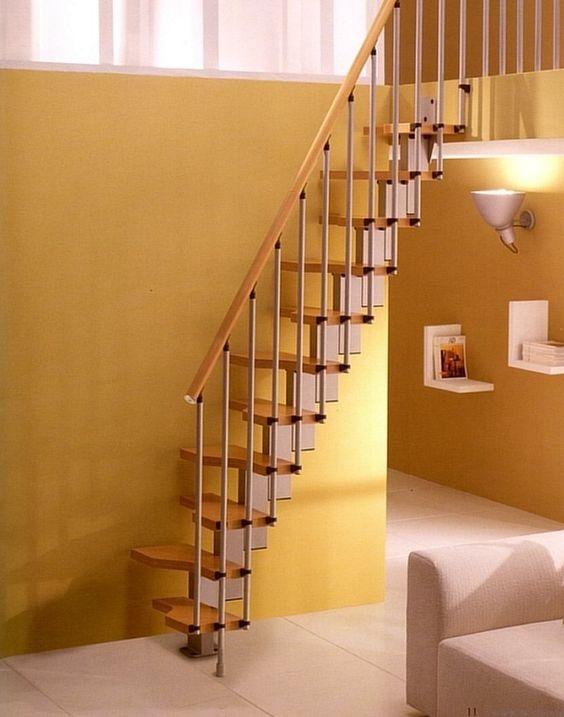 Baker Park House Frederick Md Modern Staircase Dc Metro By Meredit | Loft Stairs For Small Spaces | Child Friendly | Studio Apartment Minimalist | Corner | Steel | Loft Staircase