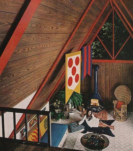a-frame interior: