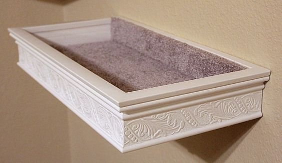 Floating Cat Bed Shelf Heirloom Moulding Style Style
