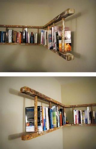 Fizemos uma seleção de várias ideias inusitadas para organizar livros e inspirar suas próprias criações em sua casa.: