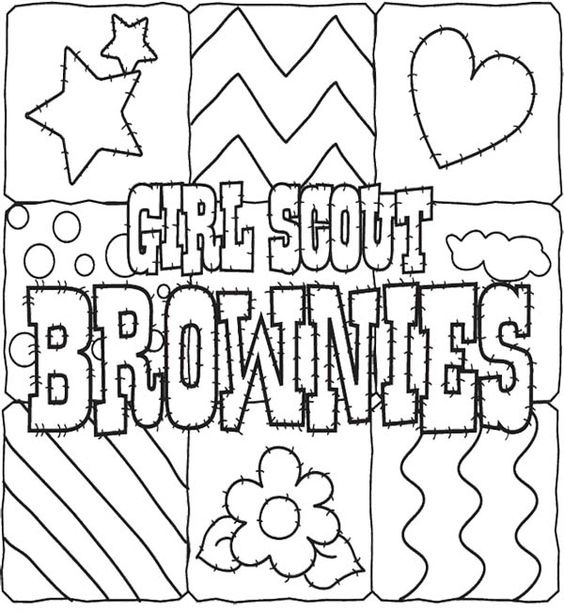 coloring pages for kids girl scout cookies and girl scouts on