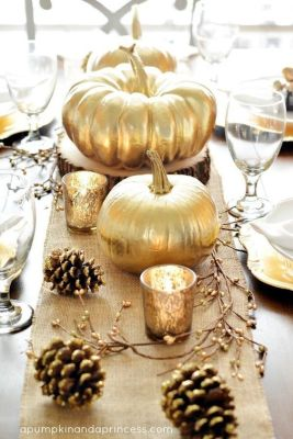 You can also go for a coat of all-gold. | 29 Ways Spray Paint Can Make Your Holiday Decor Look Expensive: