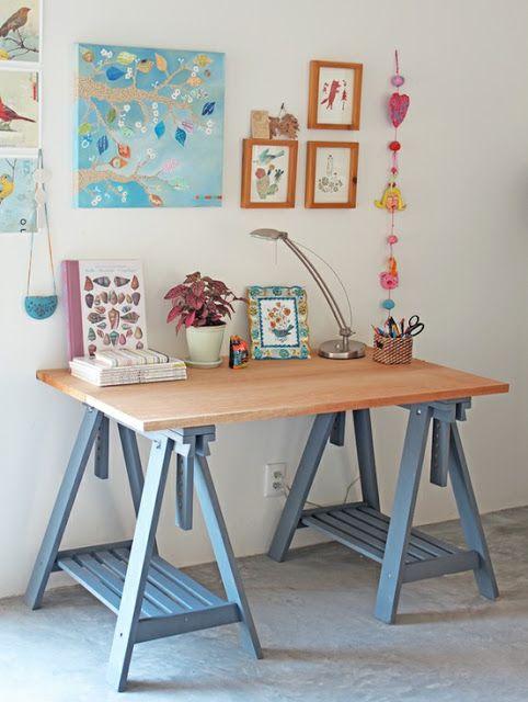 BLOG A CASA QUE MINHA VÓ QUERIA Como ter uma mesa home office linda por apenas R$ 140: