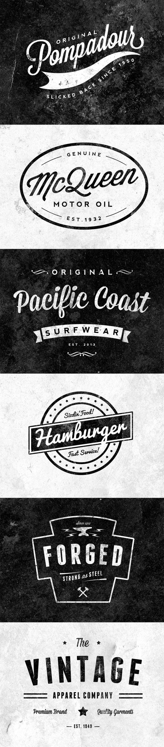6 Free Customizable Retro/Vintage Logos & Emblems