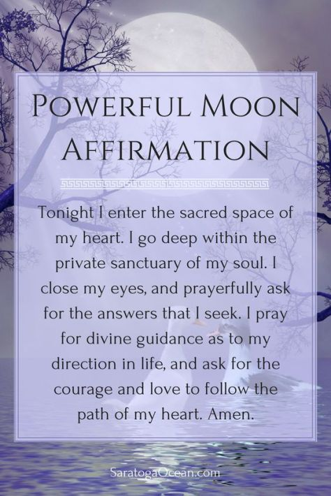 This is a wonderful affirmation to use during a new moon. The new moon energy is very supportive of new beginnings and starting fresh. It brings a powerful spiritual energy for change. You can use this affirmation to help you tap into this energy. You can