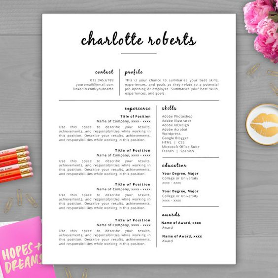 The Resume Studio. 1000 images about monogram resume ...