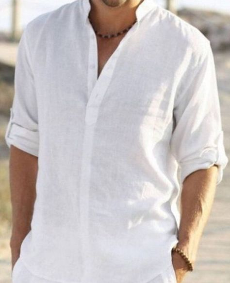 Hey, I found this really awesome Etsy listing at https://www.etsy.com/listing/285559911/man-white-linen-shirt-beach-wedding: