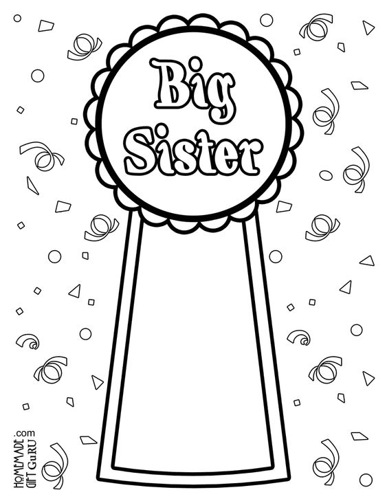 big sisters coloring pages and coloring on pinterest