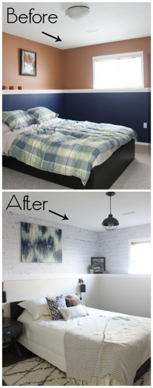 Before and After . Love the wooden and rustic touches in the decor!: