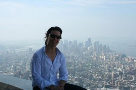 Tom Cruise visiting 103rd floor viewing deck on Empire State Building