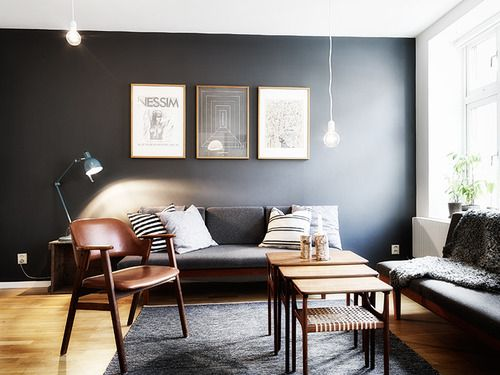 The Colors Of Dark Grey Wall, Light Brown Floor And Dark