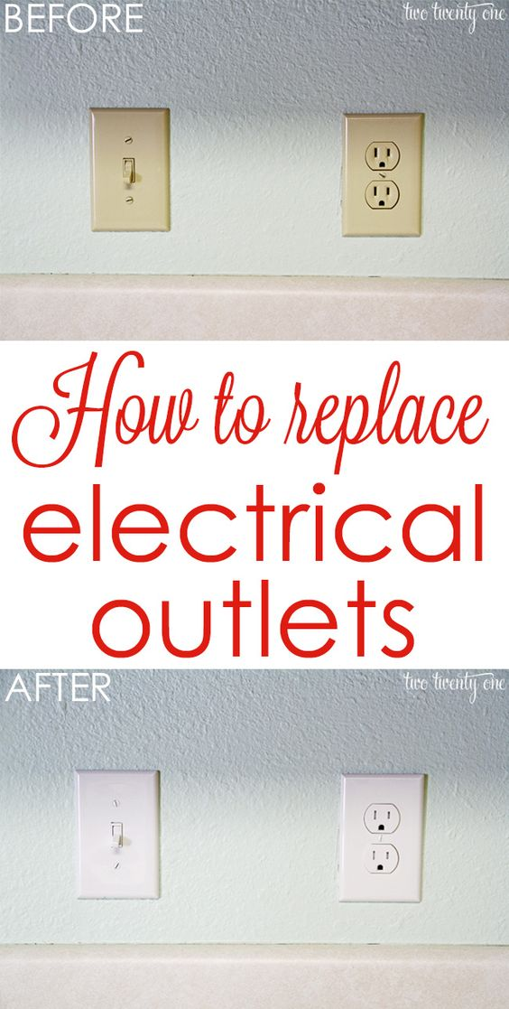 Get rid of those outdated almond-colored outlets! How to replace electrical outlets!: