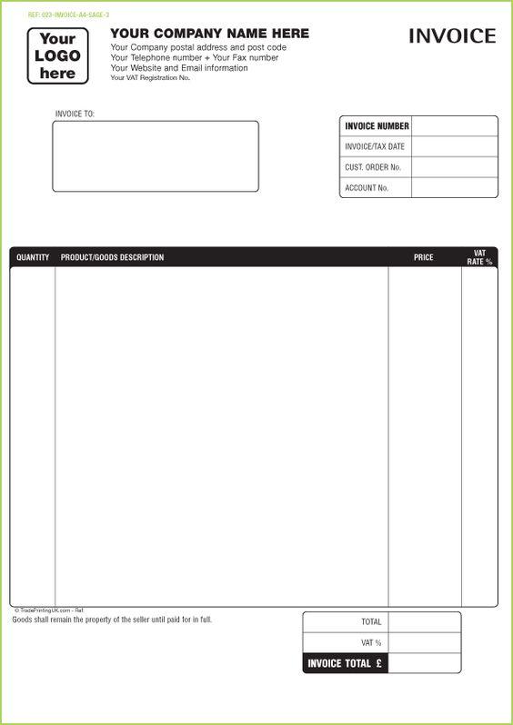 invoice template quicken – neverage, Invoice examples