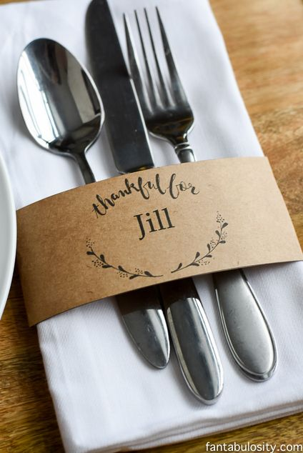 Customizable Name Cards. Free Printable!: