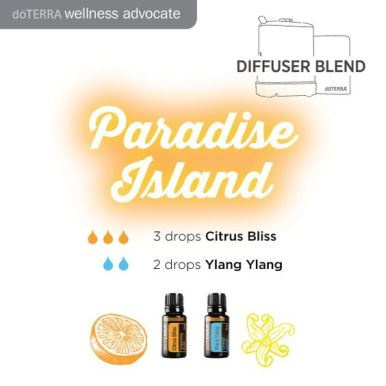 Feel like your home is a paradise island with this lovely blend of citrus and ylang ylang essential oil!: